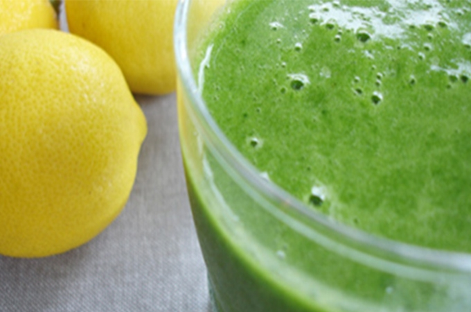 Lemon Ginger Flu Buster Green Smoothie