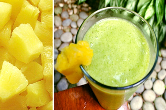 Pineapple Malunggay Green Smoothie Recipe