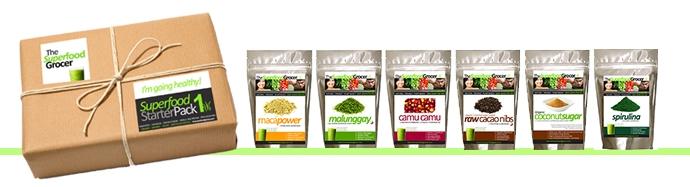 Healthy Superfood StarterPack Philippines Maca Spirulina Camu Camu Cacao Nibs Malunggay