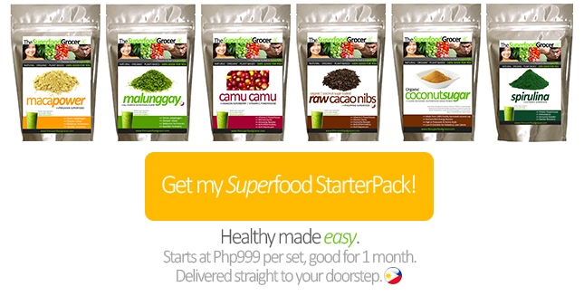Superfood StarterPack Philippines | Maca Camu Camu Spirulina Cacao Nibs Malunggay | The Superfood Grocer Philippines