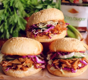 Vegan Barbecue Pulled Pork Sandwiches
