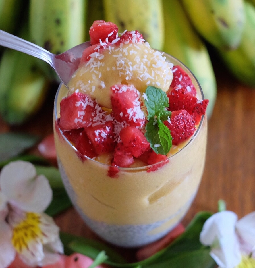 Mango Nicecream with Chia Pudding