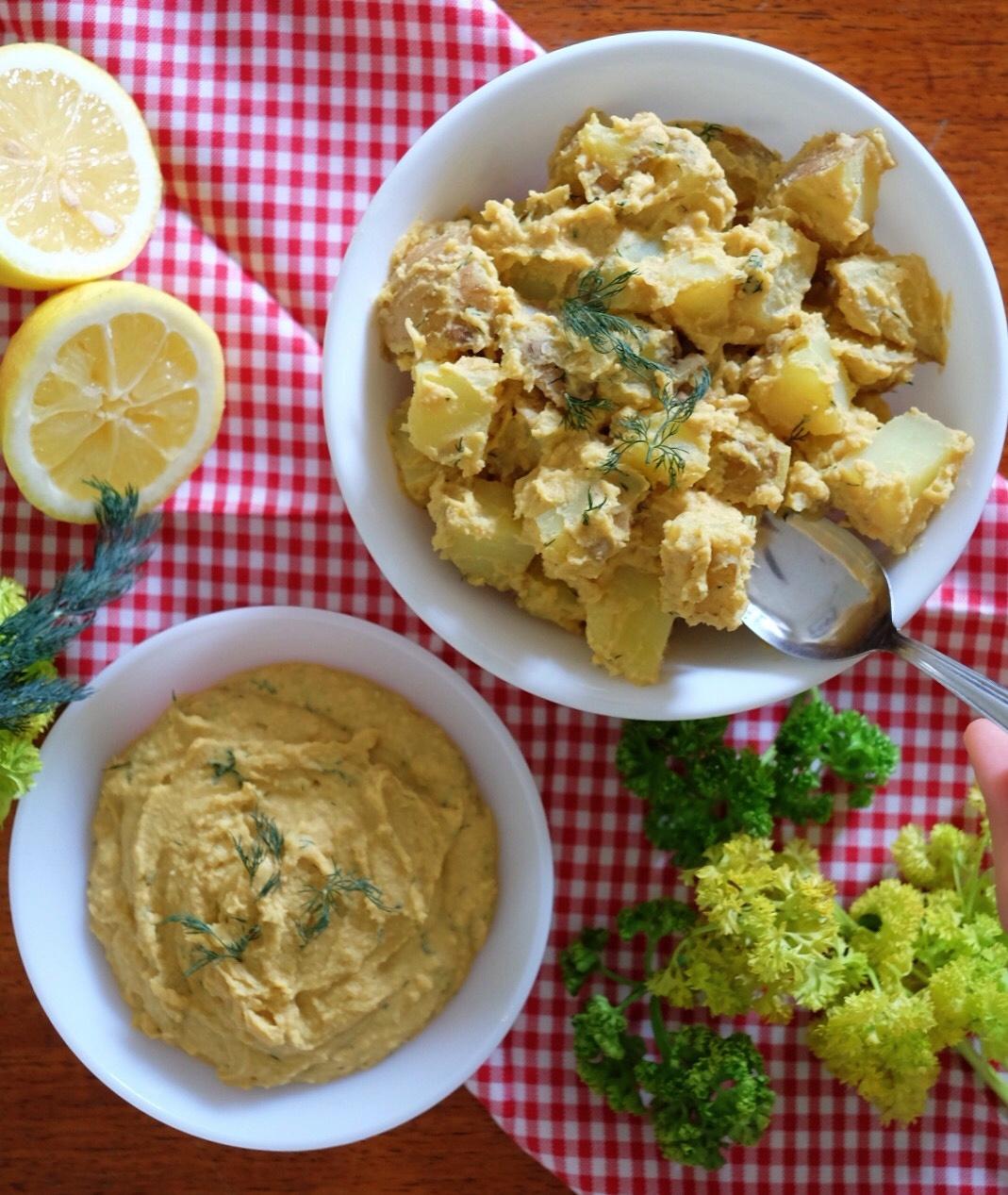 Cheesy Lemon Dill Hummus Recipe