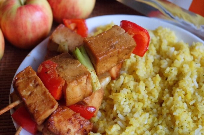 Tofu Kebabs with Turmeric Malunggay Rice Recipe | The Superfood Grocer