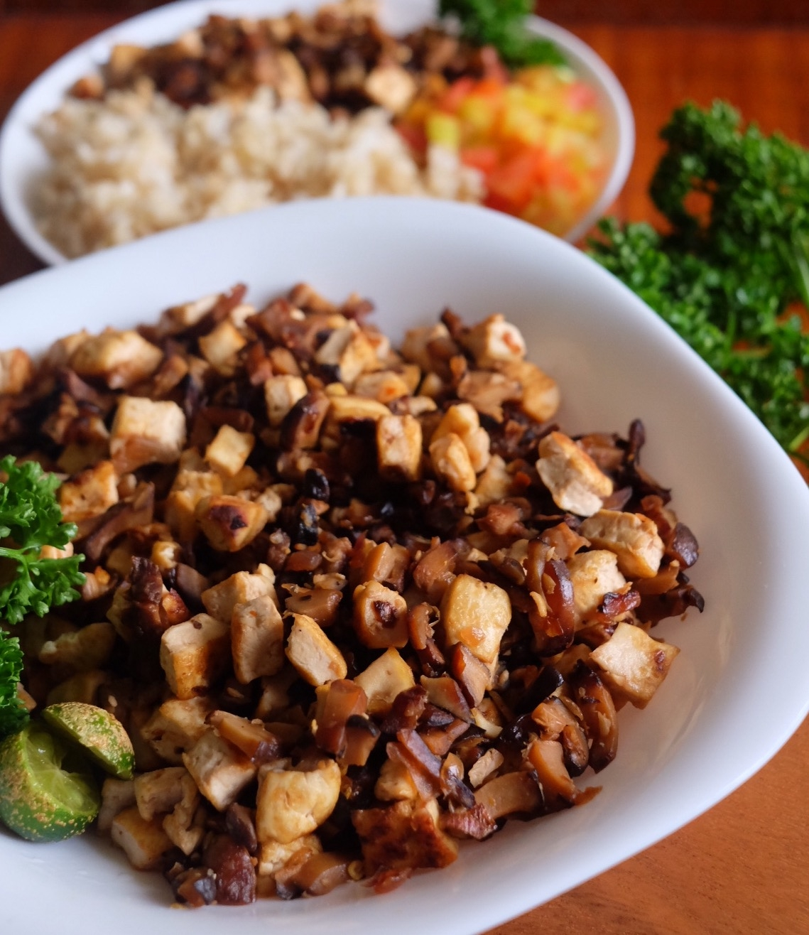 Tofu Mushroom Sisig Recipe