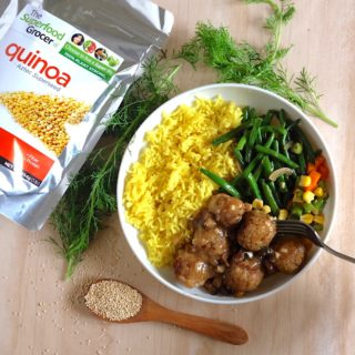 "Mushroom Quina ""Meat""balls 