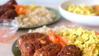 Easy Vegan Longganisa and Tofu Scramble