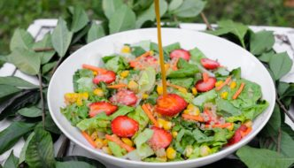 Refreshing Quinoa Strawberry Salad with Calamansi-Coco Nectar Dressing Recipe